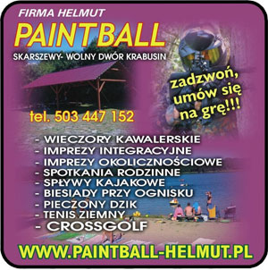 Paintball Kajaki Mini Chaty Skarszewy